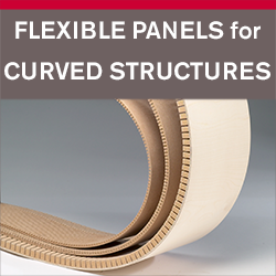 Flexible panels for curved structures